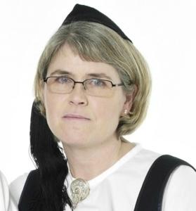 Guðrún Hildur Rosenkjær eigandi Annríkis - Þjóðbúningar og skart.