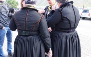 Annríki - Þjóðbúningar og skart. Faldbúningur yngri, bakhlutar.