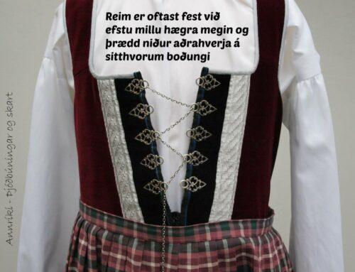 """Upphlutur reimaður – """"Upphlutur"""" threaded"""